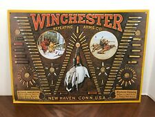 Vintage Winchester Repeating Arms Company Tin Metal Sign Bullets