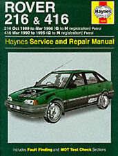 Rover 216 and 416 Service and Repair Manual, Haynes Manuals
