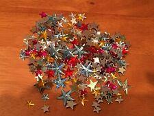 250 Strasssteine Sterne Schmucksteine Acryl Strass bunt verschiedene Größen  NEU