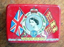 Queen Elizabeth II Coronation 1953 Souvenir Tin OXO Limited, LONDON,ENGLAND