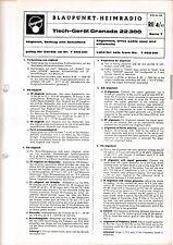 Service Manual-Anleitung für Blaupunkt Granada 22300