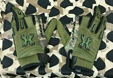 New Hk Army Hardline Pro Paintball Gloves - Olive Camo - Small