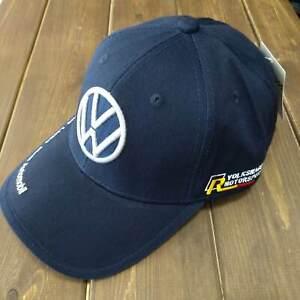 Adjustable blue VolksWagen Baseball Cap With Embroidered Logo for VW