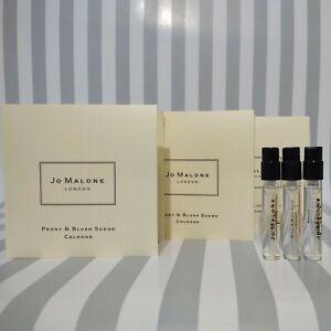 3 Jo Malone London Peony & Blush Suede Cologne Spray Samples 1.5ml each