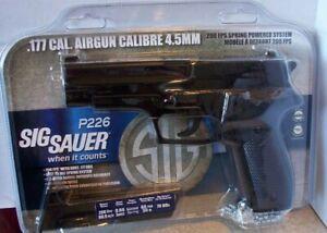 NEW SIG SAUER P226 Airgun .177 caliber 4.5mm Spring Powered 200 FPS w/70 BBs