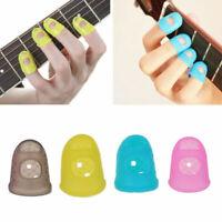 4x Thimbles Finger Tip Protectors Sewing Needle Craft Guitar Ukulele Silicone