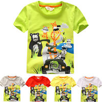 Child Kids Toddler Baby Boys T-Shirt Tops Cotton Short Sleeve Blouse Tee Clothes