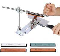 Professional Knife Sharpener Kitchen Sharpening System Kit Fixed Angle 4 Stones