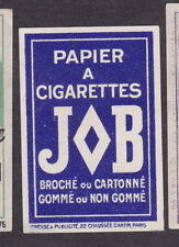 Ancienne étiquette allumettes France  BN18966 Papier à cigarettes JOB