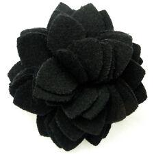 Pince à cheveux bibi broche fleur feutrine soirée cérémonie mariage noir noire
