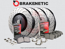 [F&R] BRAKENETIC PREMIUM DRILLED Brake Disc Rotors + POSI QUIET Pads BPK94977
