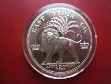 East India Co. 1830 King George IV Pewter Proof Pattern Crown Coin - Lion