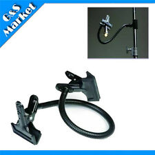 Photo light stand clamp flex arm with Heavy Duty Clamp clip