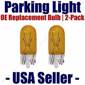 Parking Light Bulb 2-pack OE Replacement Fits Listed Ford Vehicles - 168NA