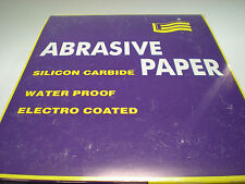 "9"" X 11"" SILICON CARBIDE SANDPAPER 100 SHEET PACKS - 600 GRIT"