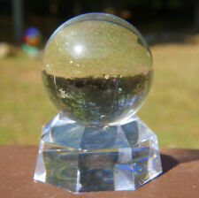 Lemurian Quartz Sphere / Crystal Ball with Stand