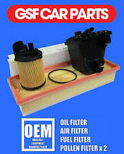 Service Kit Oil Air Fuel And Pollen Filters Citroen Berlingo 1.6 Hdi 75