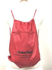 2 Pack Amber Watch Red DRAWSTRING BACKPACK BAG CARRY HIKING TRAVEL JOG BEACH