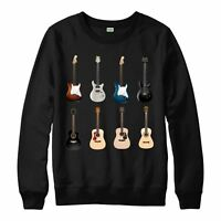 Guitar Collection Music Jumper Electric Acoustic Bass Adult Kids Jumper Top