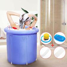 UK 70cm Adult Portable Bathtub Inflatable Bath Tub PVC Folding Xmas Gift Spa