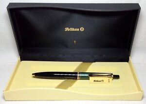 Pelikan Souveran K400 Ball Pen Green & Black Gold Trim New in Box Product