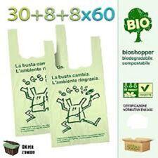 500 Shoppers Biodegradabili 30x60 MAXI 7 Kg di Sacchetti a Norma Buste Spesa