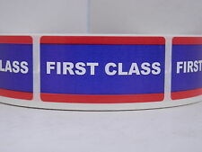 FIRST CLASS USPS 1x2 Stickers Labels Mailing Shipping 500/rl