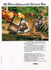 PUBLICITE ADVERTISING 044  1978  NESTLE   chocolat fourré Confiseur PRALINE