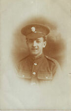 RPC Postcard: WW1 - Studio Portrait: British Soldier of the Army Service Corps
