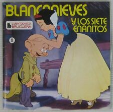 Walt Disney 45 tours Blanche Neige Pressage Espagnol