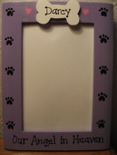 MEMORY DOG -  OUR ANGEL IN HEAVEN custom personalized pet photo picture frame