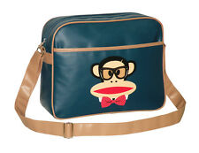 Paul Frank-glasses/bow tie Julius cabin/school/college Shoulder Bag-Azul Marino