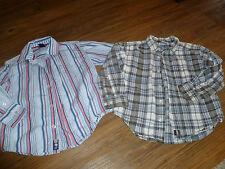 GAP & Old Navy Lot of 2 Long Sleeve Button Down Shirts Boy's US XS 4-5  EUC!