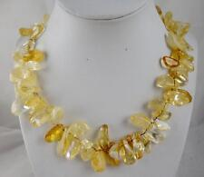 Natural yellow Citrine Irregular pendant Handmade Gemstone Jewellery Necklace H1