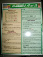 Barcharts Algebra Part 2 Quick Study Guide