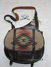 NWT Ralph Lauren Vintage RRL Double RL Indian Vintage Leather Messenger Bag