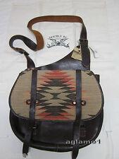 NWT Ralph Lauren Vintage RRL Double RL Indian Vintage Leather Messenger Bag