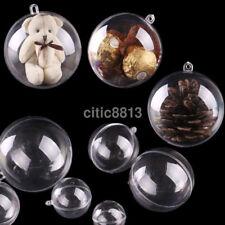 10pcs Clear Fillable Candy Box Christmas Bauble Xmas Tree Ball Ornament Decor AU