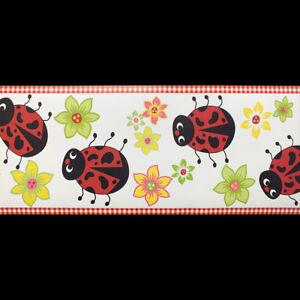 Kids, Multicoloured, Lady Bird Wallpaper Border 94487 (17.5cm x 4.57m Approx)