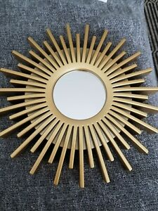 GOLD STARBURST SMALL DECORATIVE MIRROR NEW WITHOUT BOX