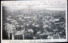 SAINT JOSEPH MO ~ 1908 Panoramic City View ~Stock Yards in the Distance~ PC # 1