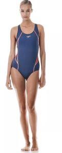 "Speedo HydroJet Splice Kickback Swimsuit / Swimming Costume / UK 18 (40"")"