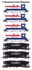 Pittsburg & Shawmut SW9 #1865 4 magnets & Shawmut Hopper 3 magnets Andy Fletcher