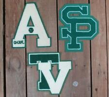 Vintage Varsity Chenille Letter Patches Group of 3 Sports Letterman Jacket Type