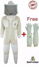 Unisex 3X Layer Beekeeping Pro Ventilated Full Suit Jacket With Round Veil. M