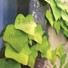 Green Simulation Leaf Sticky Note Memo Pad Leaf-it Sticker Post It Bookmark