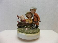 Children w/Wheel Barrow Musical Figurine