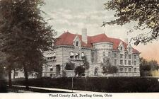 Bowling Green Ohio~Wood County Jail of Stone c1910~Postcard