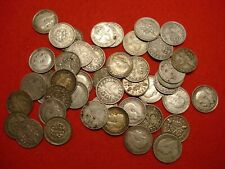 More details for 124 mixed british silver 3 pence coins