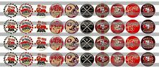 (60) San Francisco 49'ers Bottle Cap Image Pre-Cut 12mm